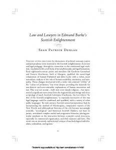 Law and Lawyers in Edmund Burke's Scottish ... - SSRN papers