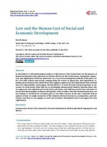 Law and the Human Cost of Social and Economic Development