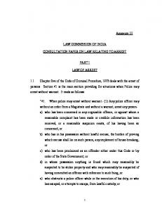 LAW OF ARREST - Law Commission of India