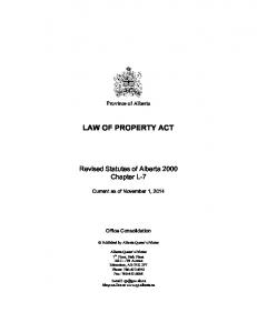LAW OF PROPERTY ACT