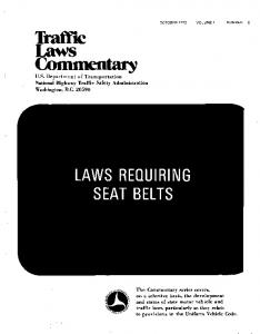 LAWS REQUIRING SEAT BELTS
