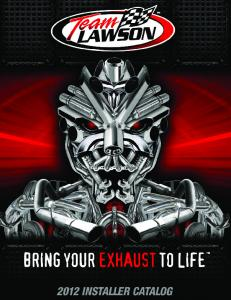 Lawson Industries Product Catalog 2012