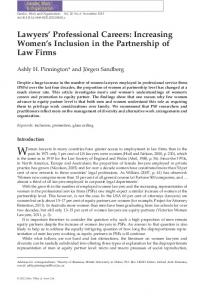 Lawyers Professional Careers: Increasing ... - Wiley Online Library
