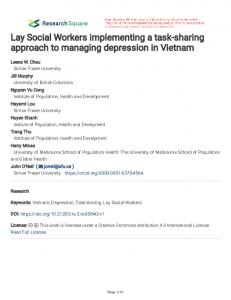Lay Social Workers implementing a task-sharing approach to ...www.researchgate.net › publication › fulltext › Lay-Socia