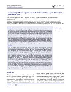 Layer stacking: A novel algorithm for individual forest ... - Forest Service
