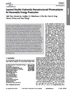 Layered Double Hydroxide Nanostructured ... - Wiley Online Library