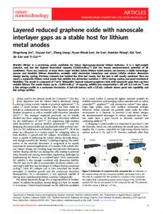 Layered reduced graphene oxide with nanoscale ... - Stanford University