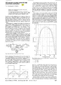 LCC Resonant Converter Control For High Power Factor Rectification ...