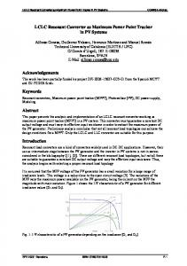 LCLC Resonant Converter as Maximum Power Point Tracker in ... - Core