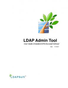 LDAP Admin Tool User Guide (Standard & Professional Edition)