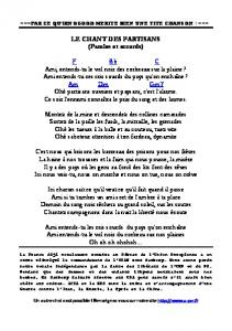 LE CHANT DES PARTISANS (Paroles et accords) F ... - Fichier PDF