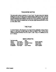 Le Colonel Chabert study guide - Film Education