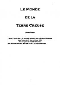 Le Monde de la Terre Creuse - Science Fiction Magazine