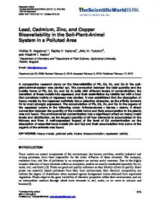Lead, Cadmium, Zinc, and Copper Bioavailability in ...