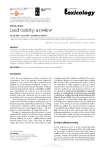 Lead toxicity: a review