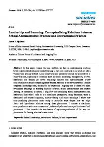 Leadership and Learning: Conceptualizing
