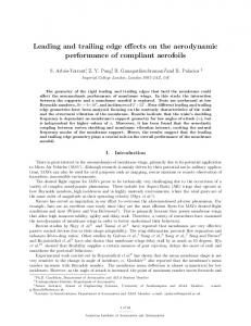 Leading and Trailing Edge Effects on the Aerodynamic Performance of ...