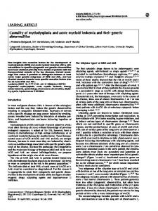 LEADING ARTICLE Causality of myelodysplasia and acute ... - Nature