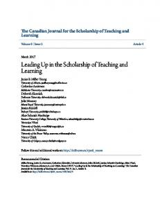 Leading Up in the Scholarship of Teaching and Learning - Eric