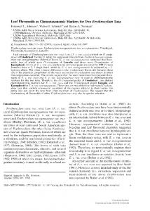 Leaf Flavonoids as Chemotaxonomic Markers for Two ...