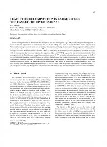LEAF LITTER DECOMPOSITION IN LARGE RIVERS: THE CASE OF