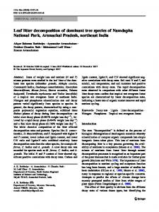 Leaf litter decomposition of dominant tree species of ... - Springer Linkhttps://www.researchgate.net/.../Leaf-litter-decomposition-of-dominant-tree-species-of-N...