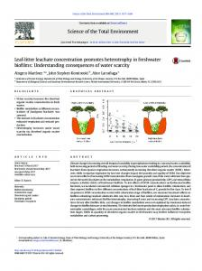 Leaf-litter leachate concentration promotes
