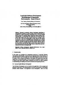 Lean/Agile Software Development Methodologies In ... - CiteSeerX