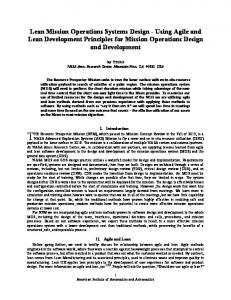 Lean Mission Operations Systems Design - Using Agile and Lean ...