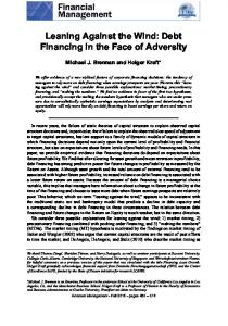 Leaning Against the Wind: Debt Financing in the Face of ...www.researchgate.net › publication › fulltext › Leaning-