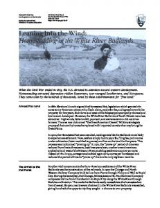 Leaning Into the Wind: Homesteading in the White River Badlands