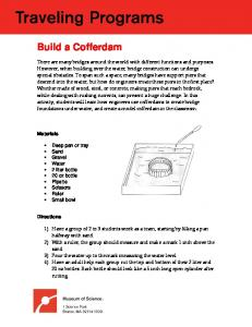 Learn how to build a cofferdam (activity)