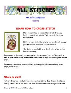 LEARN HOW TO CROSS STITCH - Allstitches4you.com