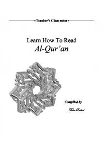 Learn How To Read Al-Qur'an - Islamguiden