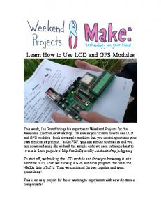 Learn How to Use LCD and GPS Modules - Make