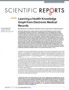 Learning a Health Knowledge Graph from Electronic Medical Records