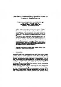 Learning an Integrated Distance Metric for Comparing Structure ... - arXiv
