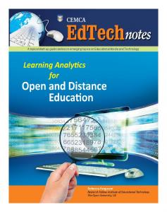 Learning Analytics for Open and Distance Education - Cemca