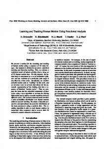 Learning and Tracking Human Motion Using Functional ... - CiteSeerX