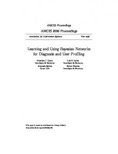 Learning and Using Bayesian Networks for Diagnosis ...