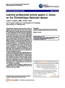 Learning antibacterial activity against S. Aureus on the ... - Springer Link