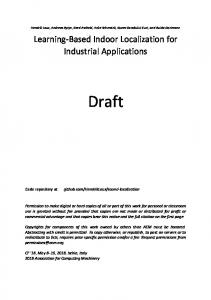 Learning-Based Indoor Localization for Industrial Applications