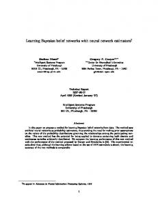 Learning Bayesian belief networks with neural ... - Semantic Scholar