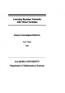 Learning Bayesian Networks with Mixed Variables ... - CiteSeerX
