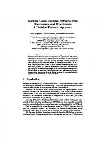 Learning Causal Bayesian Networks from Observations ... - CiteSeerX
