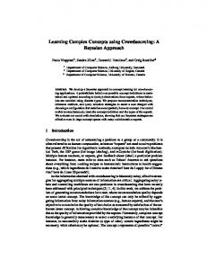 Learning Complex Concepts using Crowdsourcing: A Bayesian