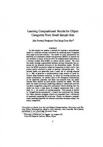Learning Compositional Models for Object ... - Semantic Scholar