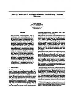 Learning Conventions in Multiagent Stochastic ... - Semantic Scholar