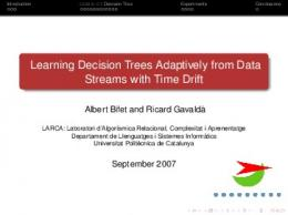 Learning Decision Trees Adaptively from Data