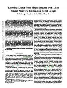 Learning Depth from Single Images with Deep Neural Network ... - arXiv